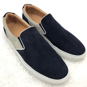 GREATS Mens Wooster Slip On Two Tone Suede Sneaker
